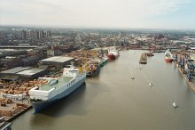 Grimsby, Royal Dock taken from Dock tower, Lincolnshire © Roger Damm